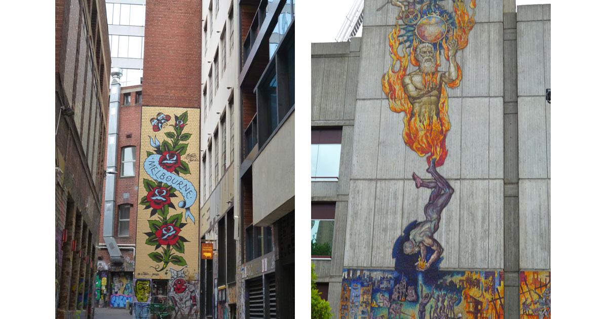 Melbourne murals by Linda Ballou