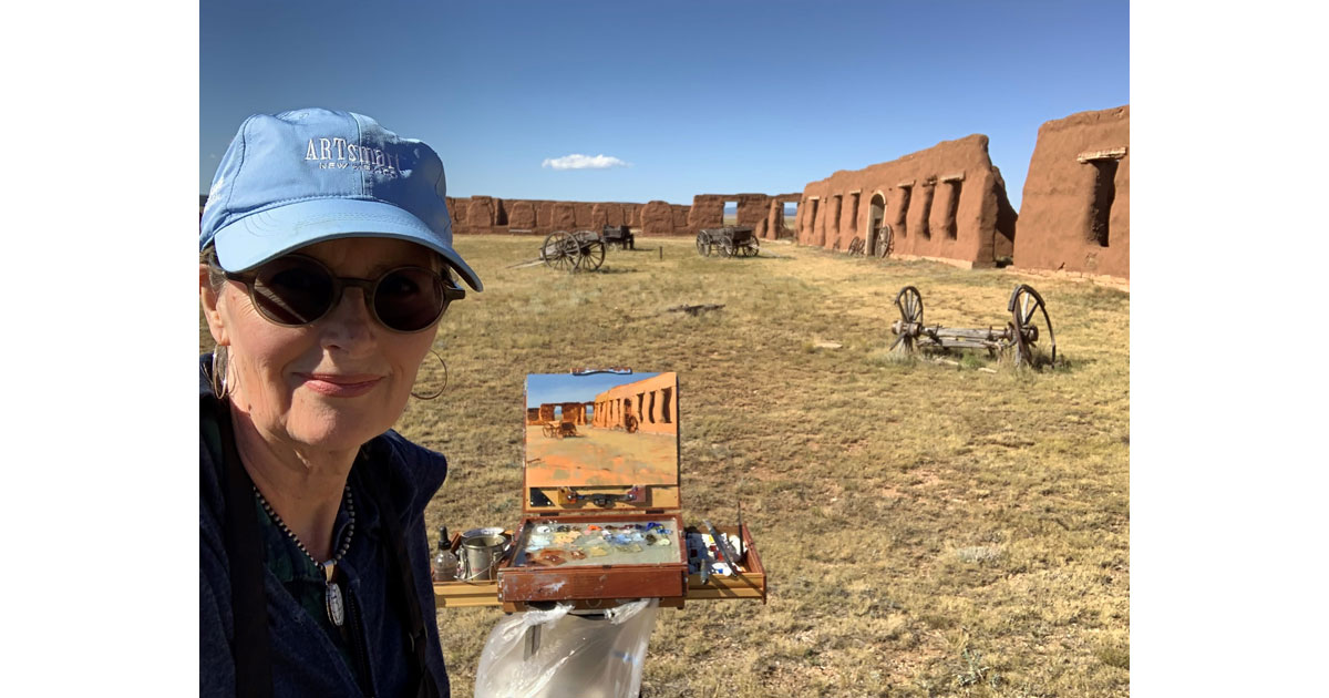 Melissa Weinman at Fort Union