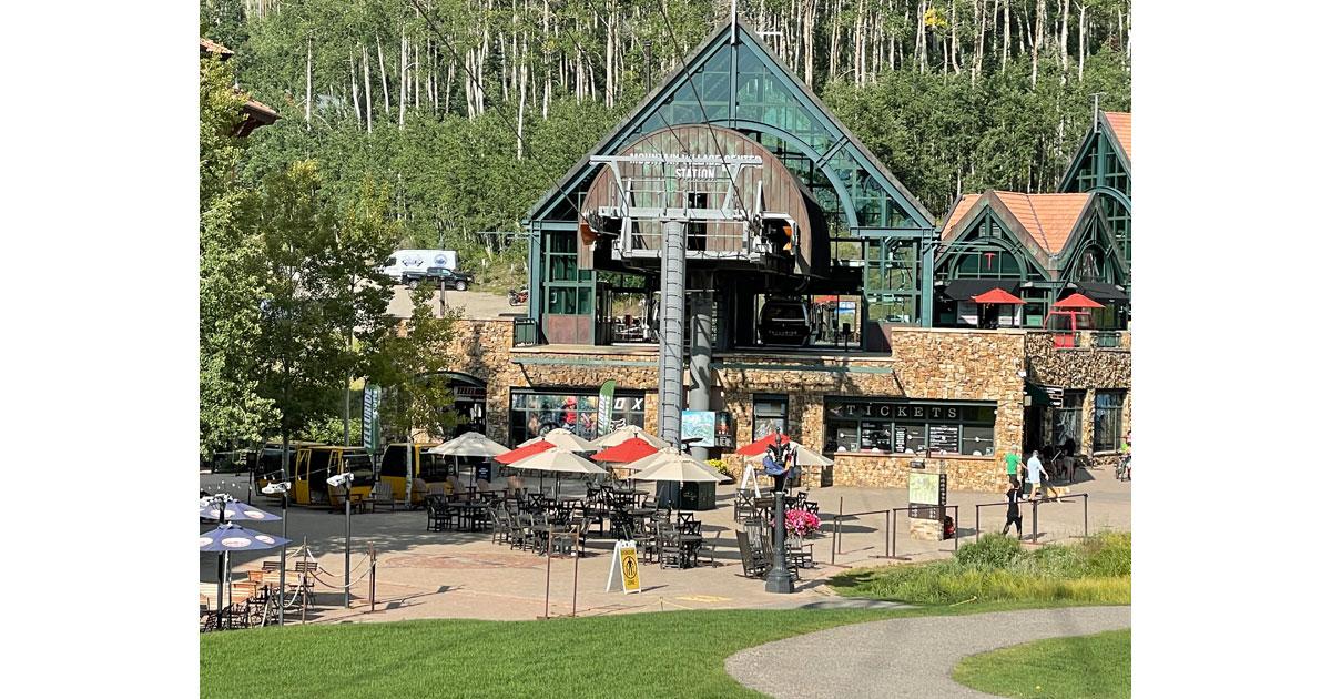 Mountain Village gondola station.