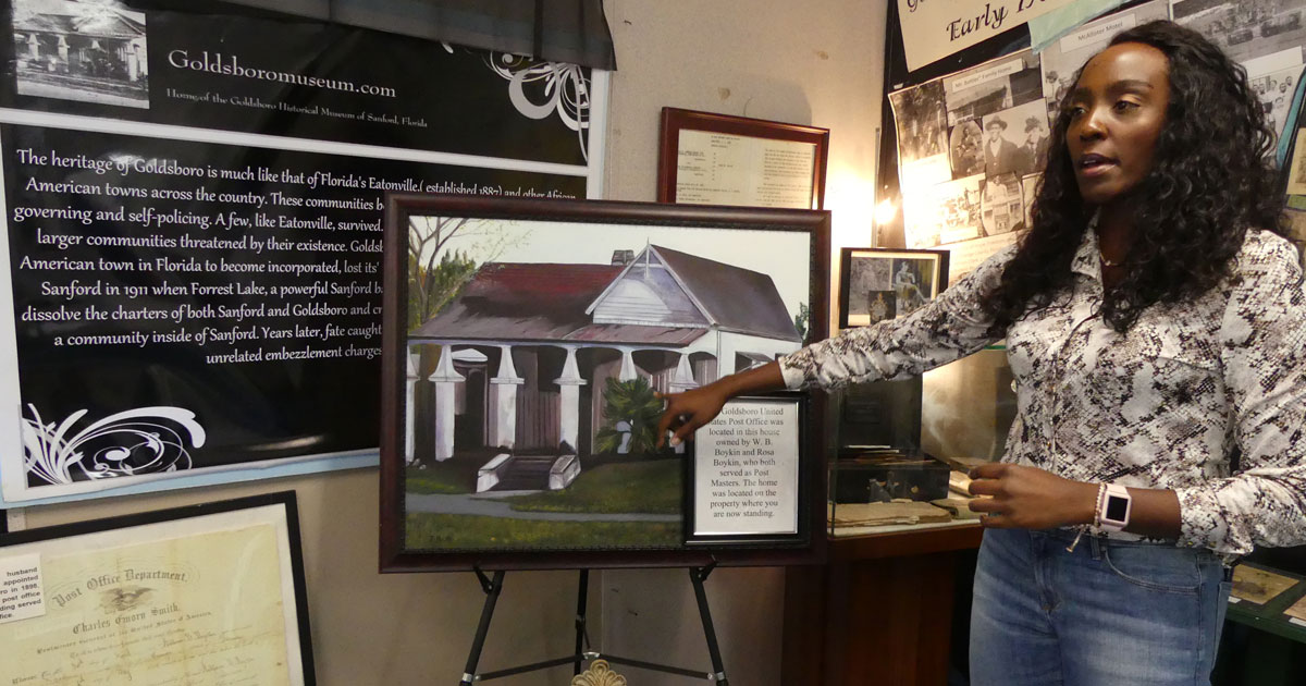 Pasha Baker at Goldsboro West Side Community Historical Association