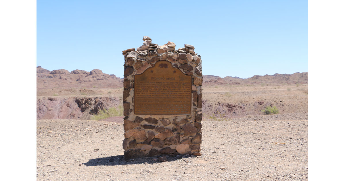Picacho Mining Camp Historic Marker