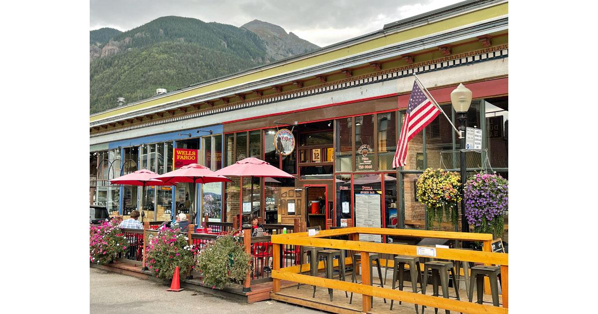 Plenty of outdoor eating areas in Telluride.