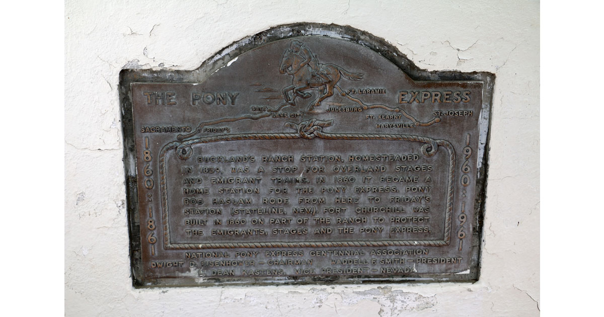 Pony Express Plaque for Fort Churchill and Buckland Station