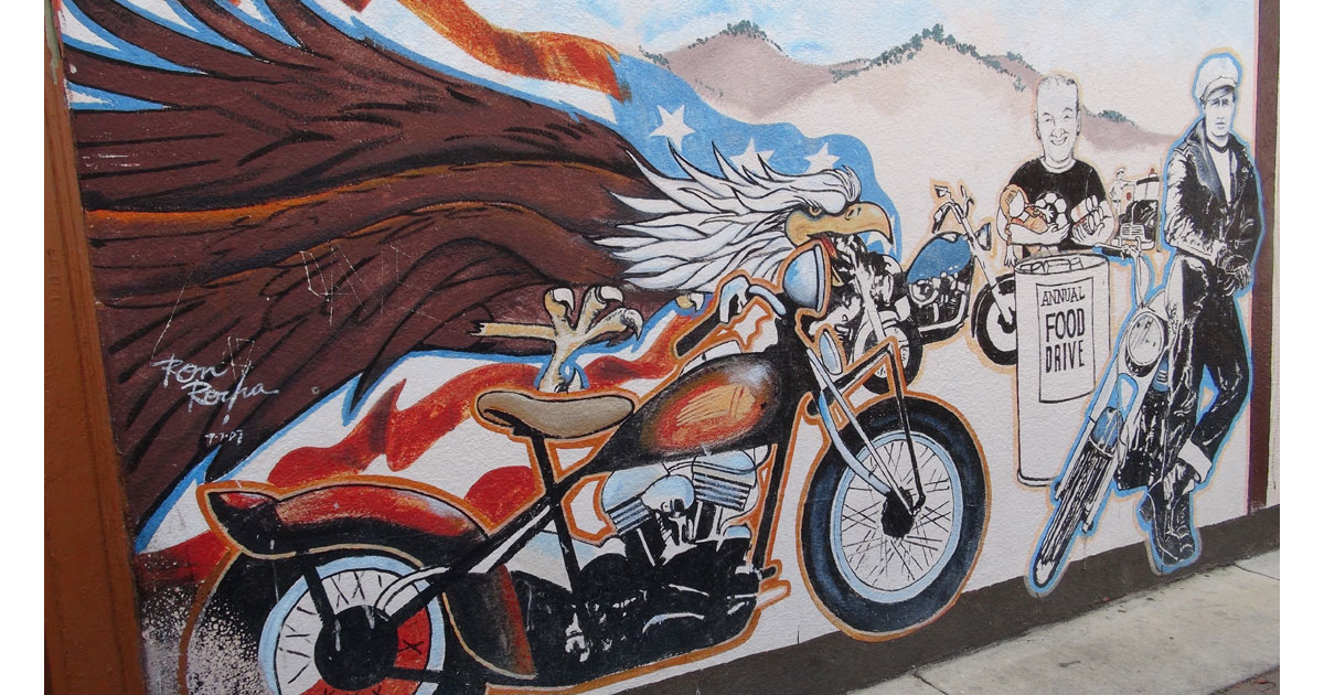 Remembering our Veterans Past and Present Mural in Hollister by Ronald Rocha