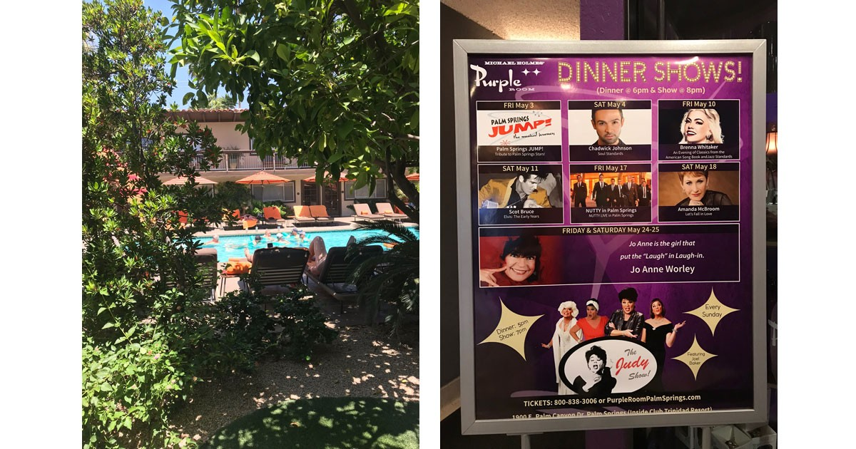 Santiago Swimming Pool Area and Purple Room Shows
