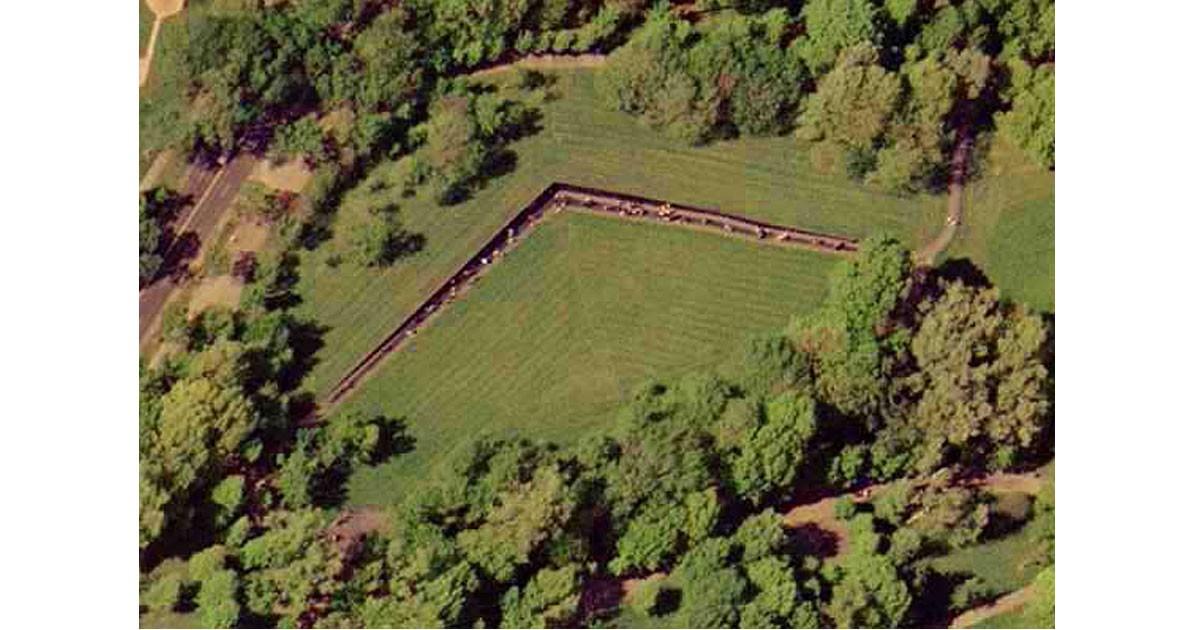 Satellite photo of Viet Nam Memorial