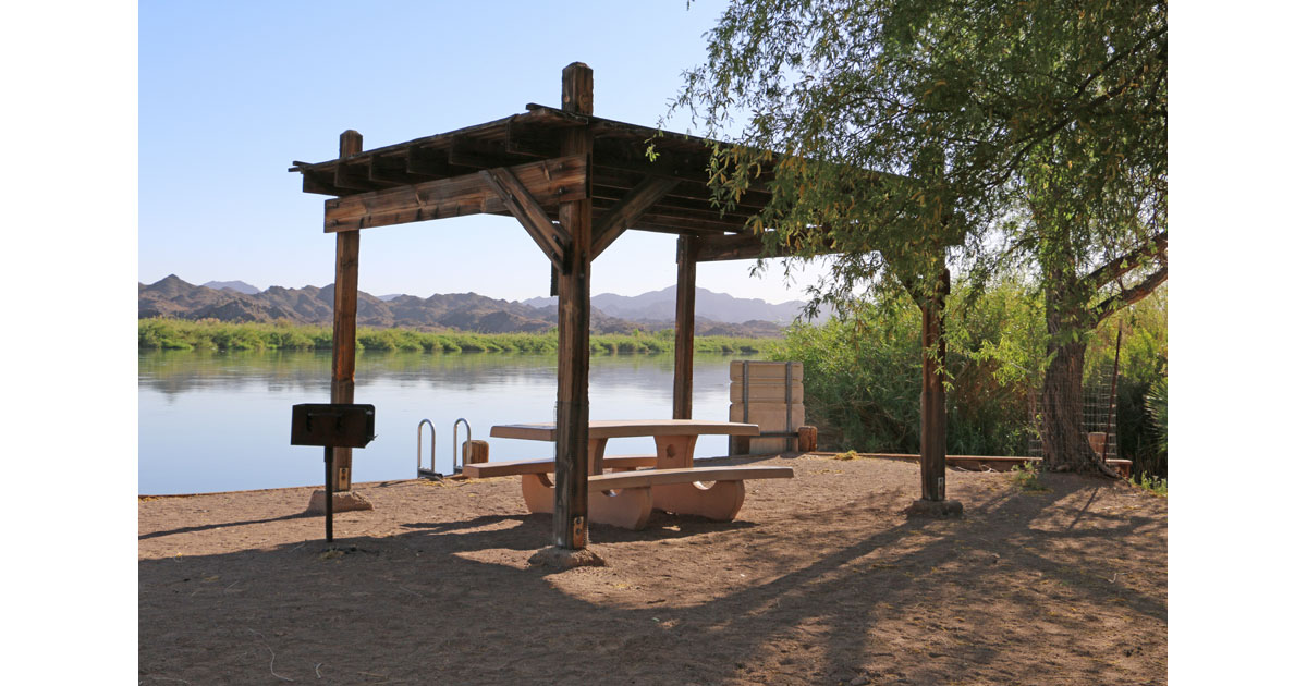 Shaded Picnic Sites Along the Colorado River