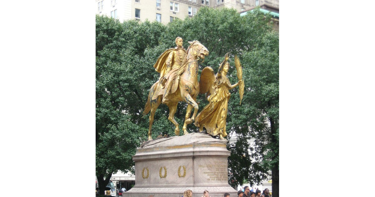 Sherman Memorial in Central Park, New York, NY