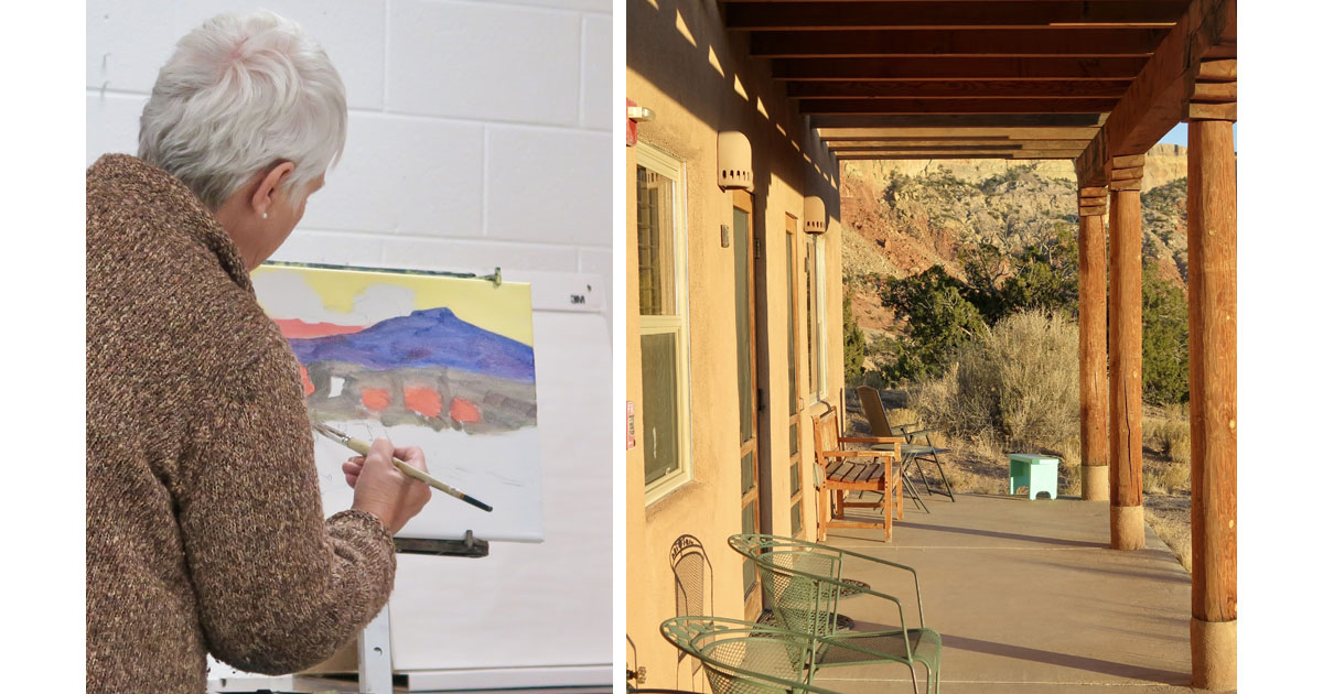 Artist Diane Arenberg at Ghost Ranch and Ghost Ranch