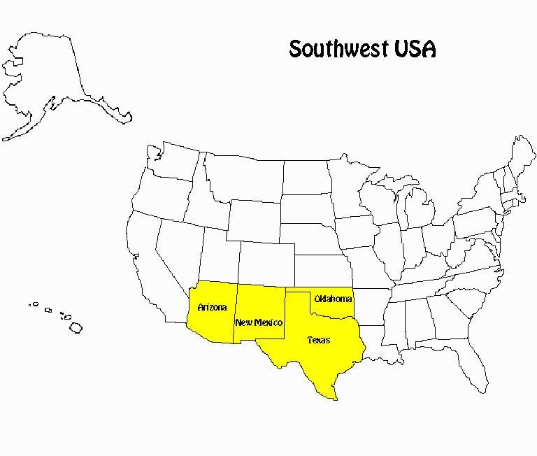 Southwest-USA-map   Parks & Travel Magazine