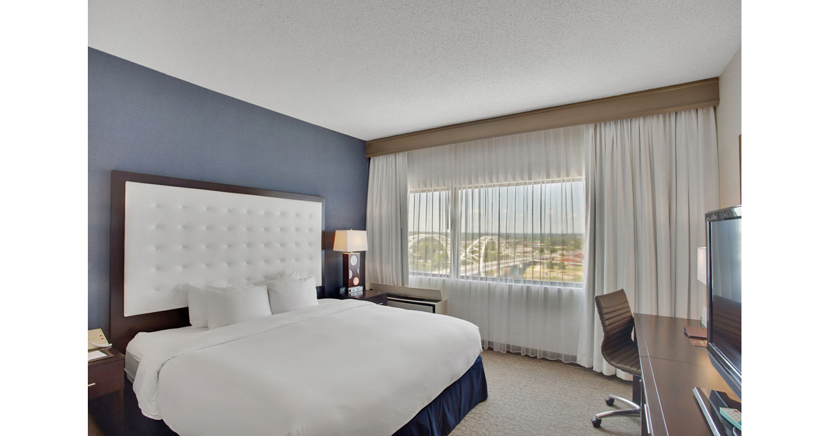 Spacious, modern rooms at Doubltree Little Rock