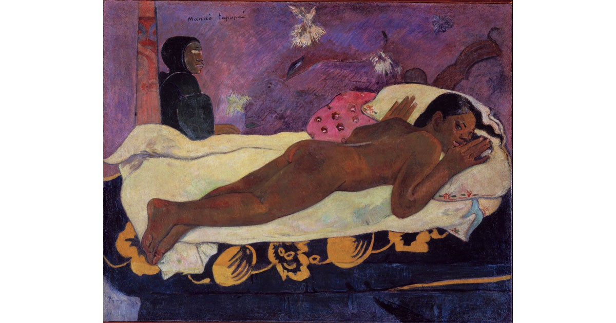 Spirit of the Dead Watching by French artist Paul Gauguin
