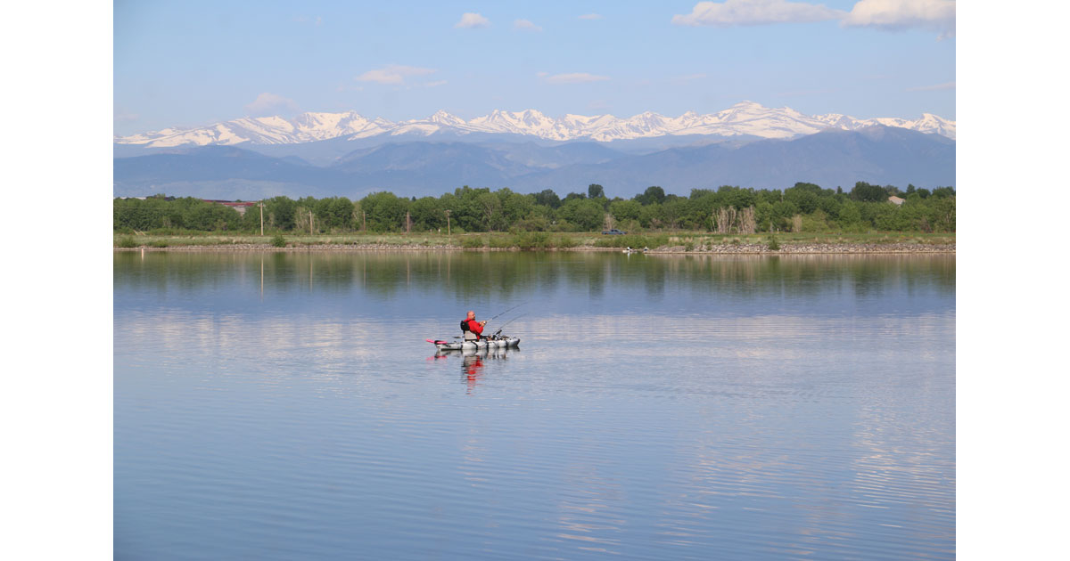 St Vrain State Park in Northeast Colorado