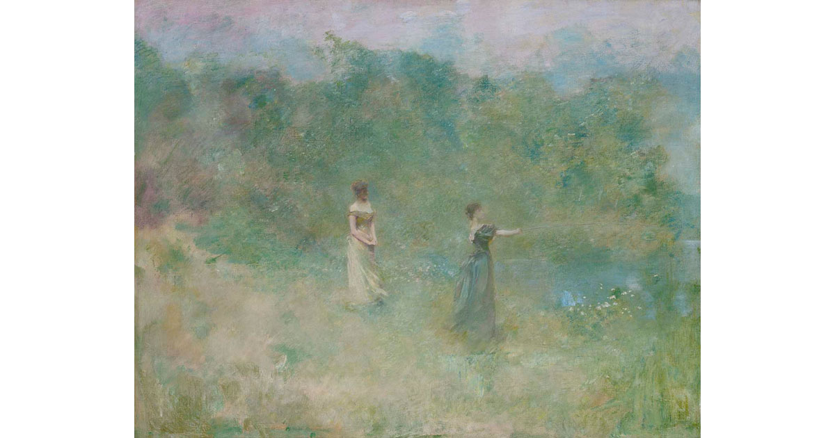 Summer by Thomas W. Dewing, 1890