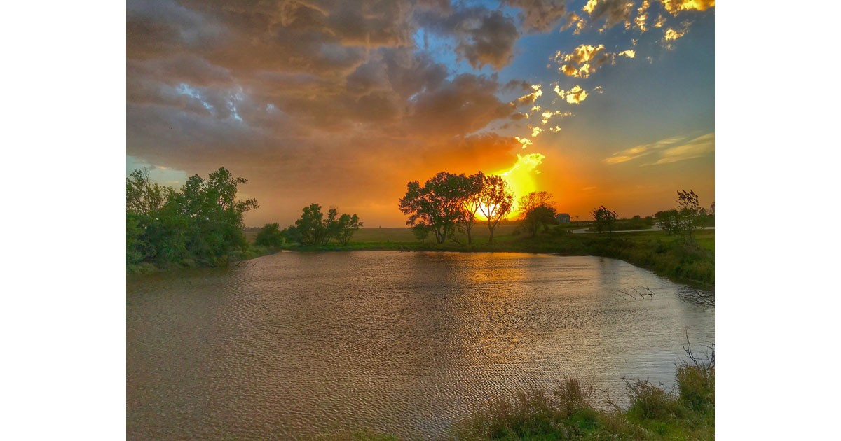 Sunset at the Homestead National Monument. Photo by Jim Schlett