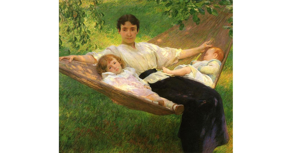 The Hammock by Joseph DeCamp, 1895