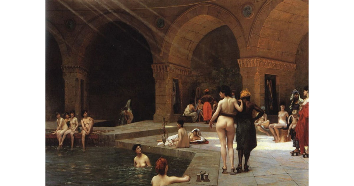 The Large Pool of Bursa by French artist J. L. Gerome