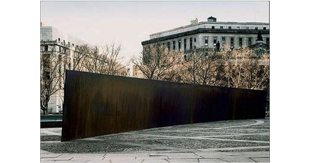 The Tilted Arc by Richard Serra