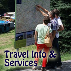 visitor bureaus, chamber of commerce, national park travel information, tour operators, tours, roadside help