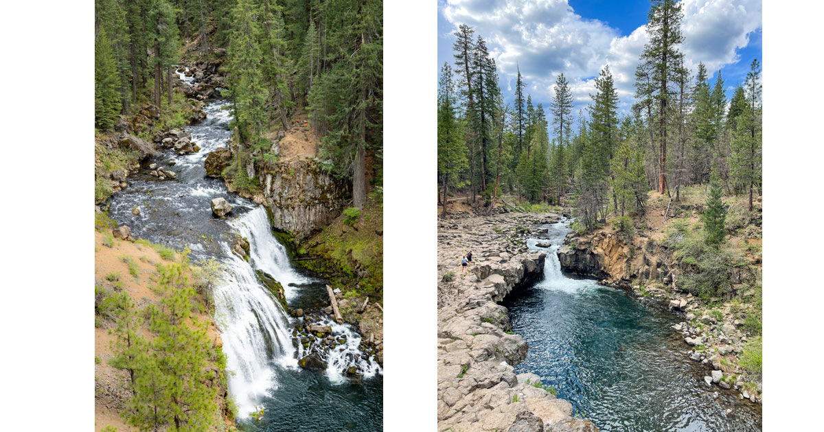 Upper McCloud Falls and Lower McCloud Falls