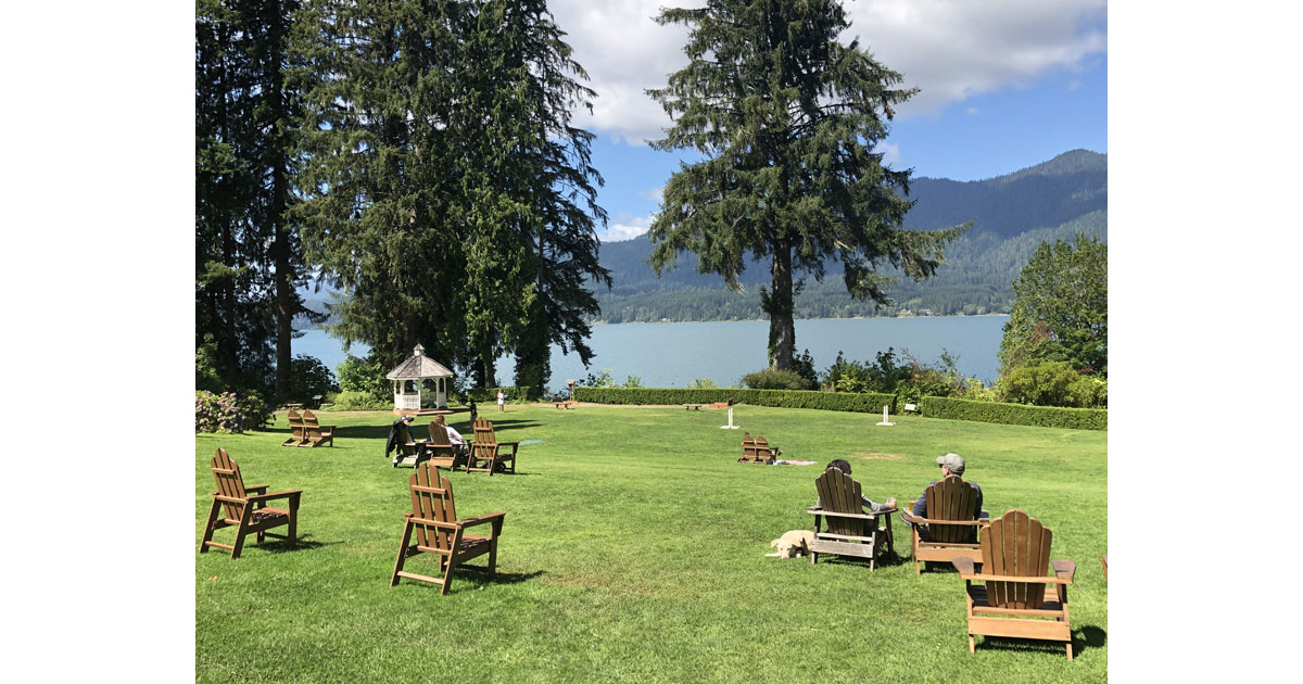 View of Lake Quinault from the lodge