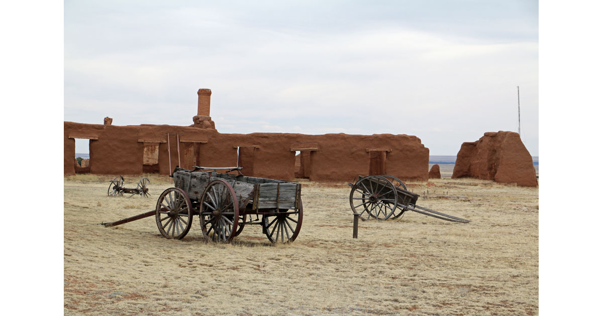 Wagon at Fort Union National Monument