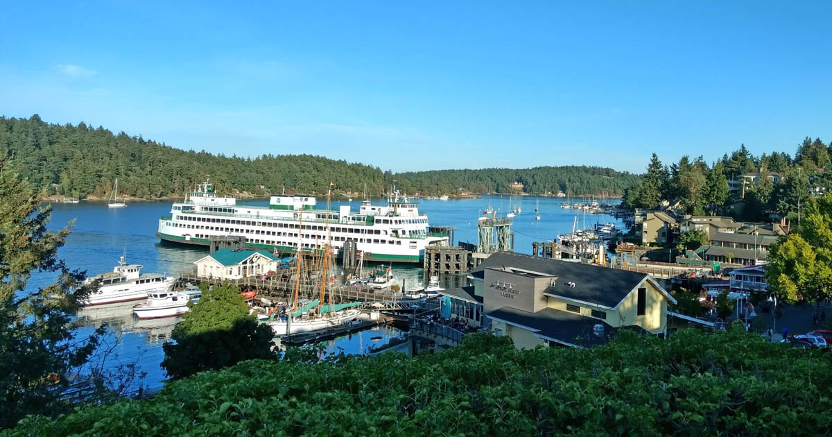 Washington State Ferries dock in the center of delightful Friday Harbor, San Juan Island, WA1.jpg
