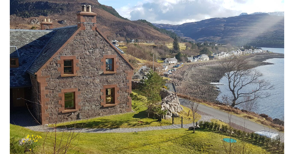 An Cos Shieldaig Luxury Vacation House
