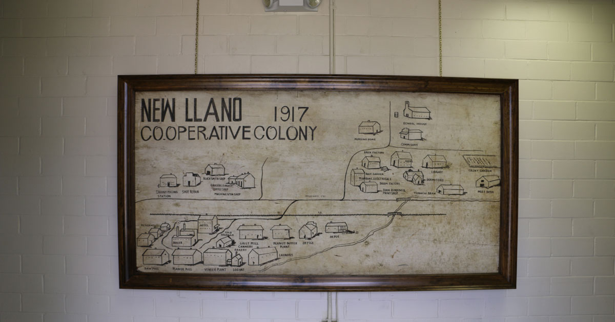 New Llano Colony map 1917