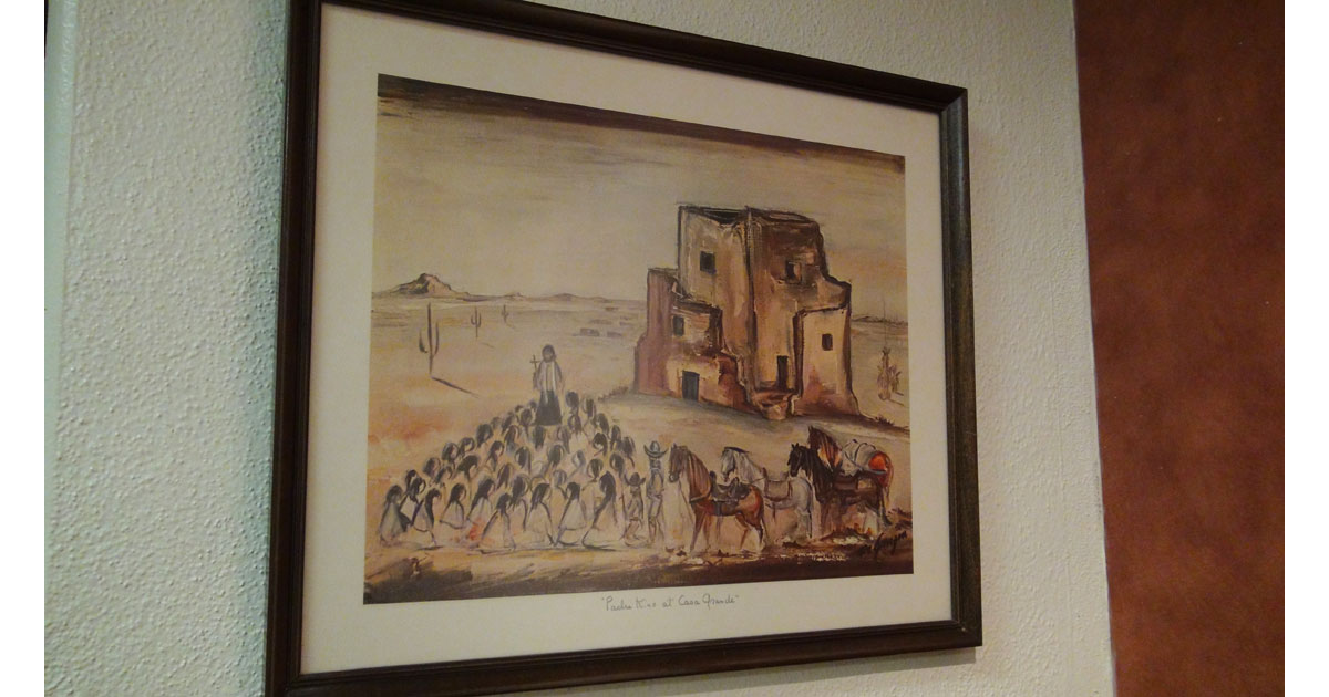 DeGrazia Paints Casa Grande Ruins National Monument
