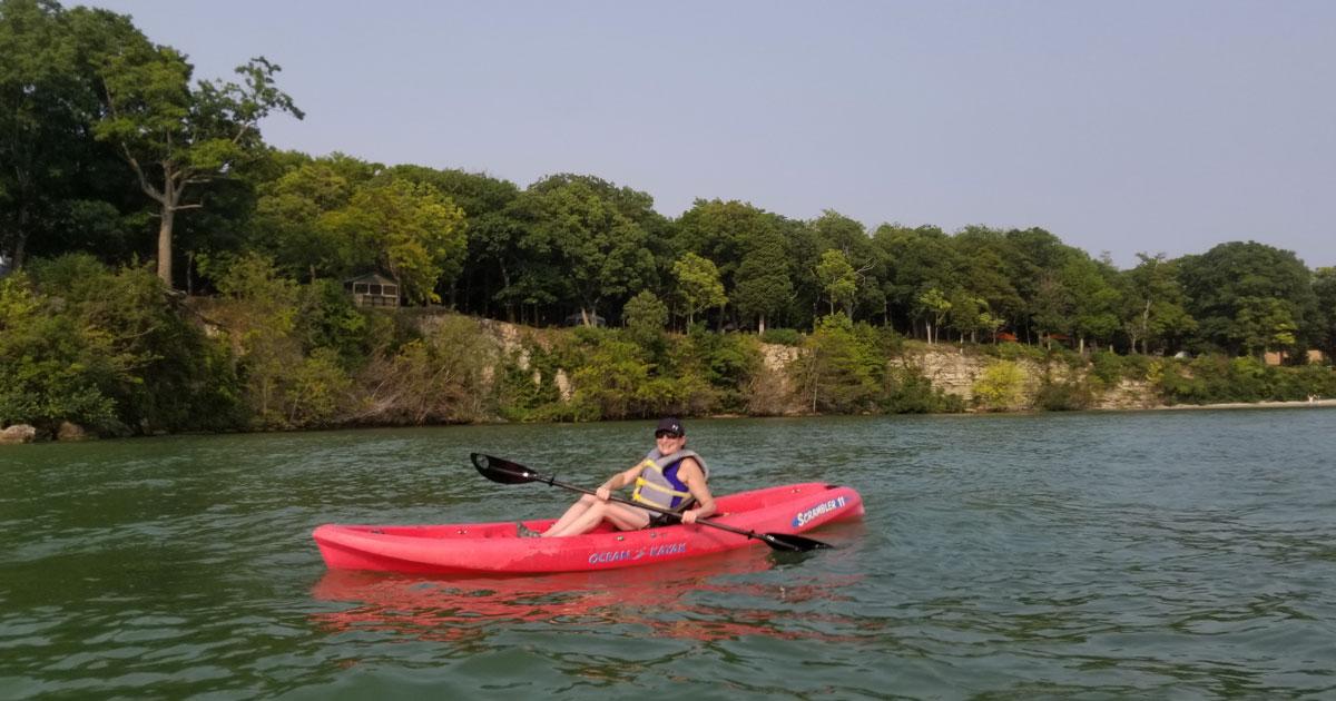 Kayaking on Lake Erie courtesy of Ohio's Lake Erie Shores & Islands