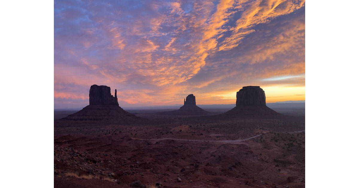 Watch the sun rise and set over Monument Valley
