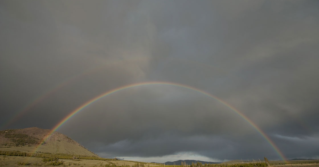 Rainbow in Yellowstone National Park