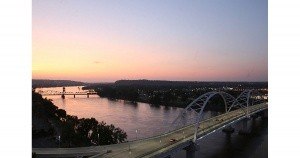 River view from Double Tree Hilton, Little Rock, Arkansas