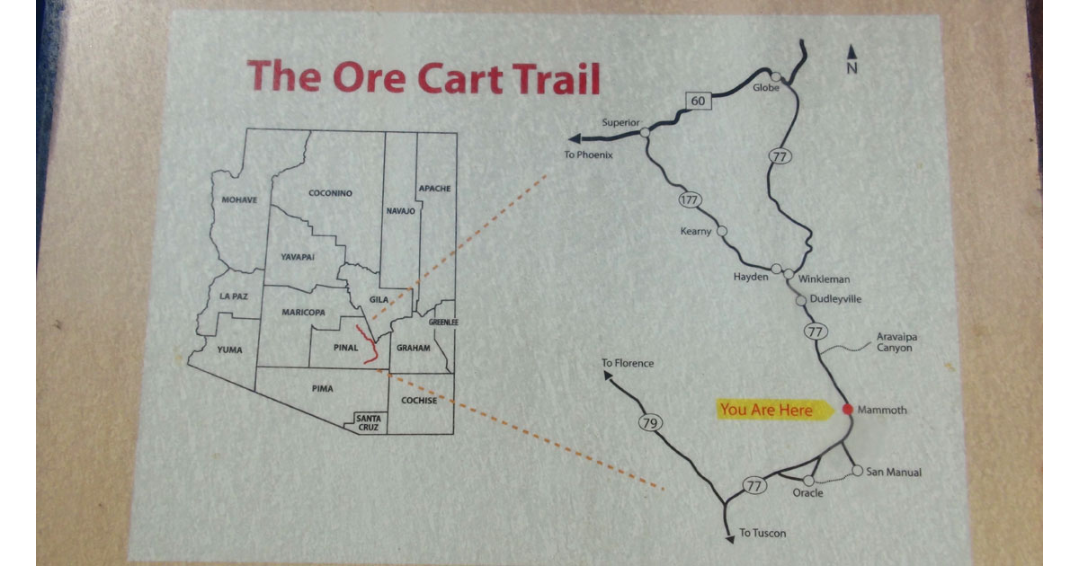 Ore Cart Trail Map in Mammoth